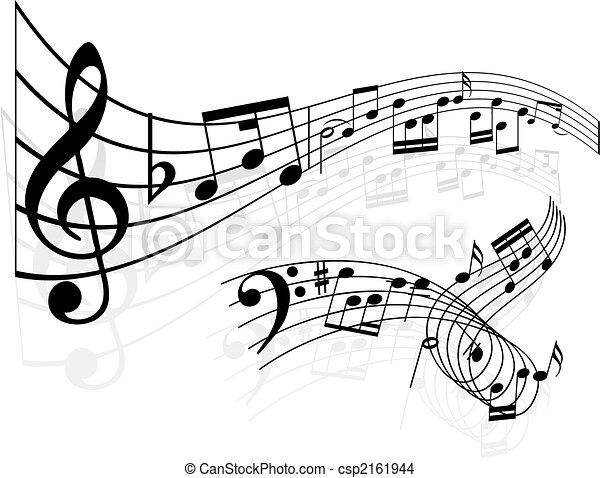 musique note, fond - csp2161944