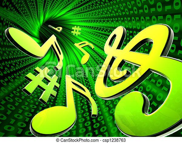 musique, numérique - csp1238763