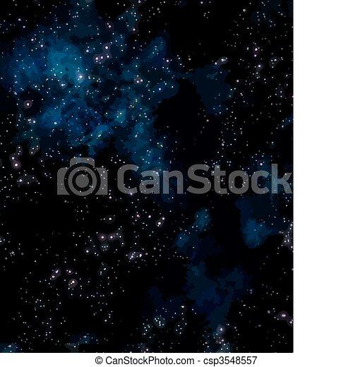 nébuleuse, extérieur, étoiles, espace - csp3548557