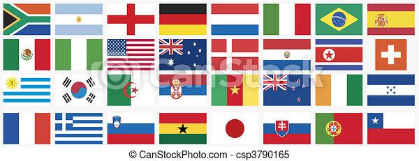 national, drapeaux - csp3790165