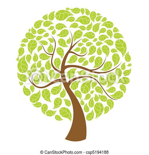 naturel, arbre - csp5194188
