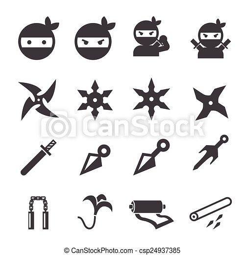 ninja, icône - csp24937385