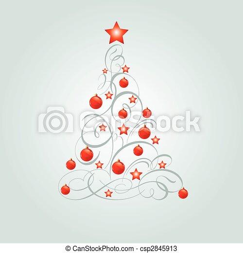 noël, décoré, arbre - csp2845913