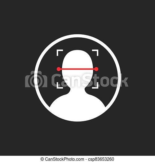 noir, id, isolé, figure, icône, scanner - csp83653260