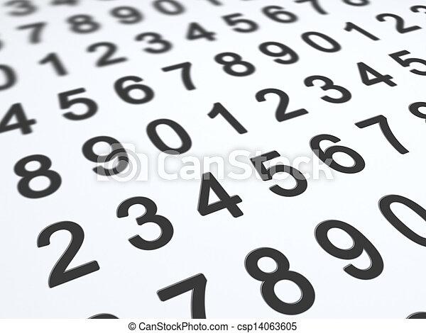 nombres, fond - csp14063605
