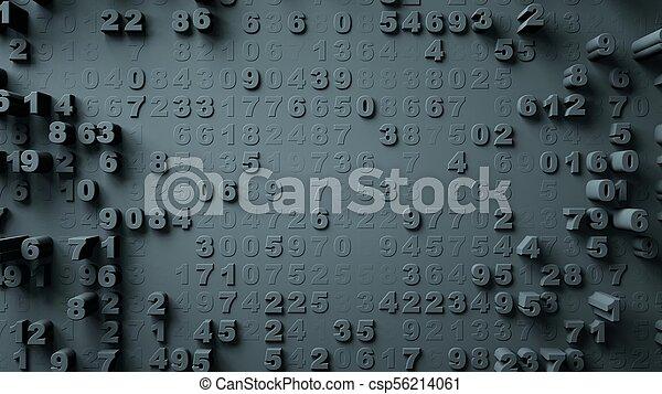 nombres, résumé, mouvement, aléatoire - csp56214061