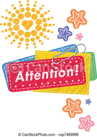 note, attention, conception - csp7469988