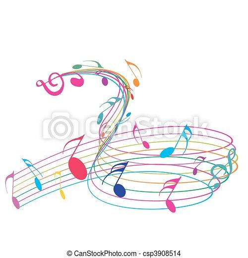 notes, musique - csp3908514