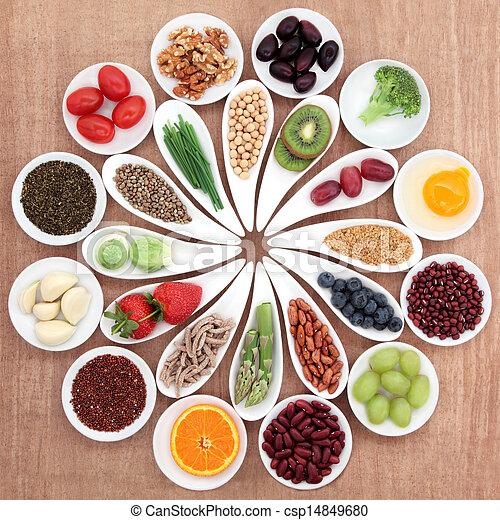 nourriture, plat, santé - csp14849680