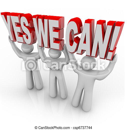 nous, reussite, -, ensemble, détermination, boîte, équipe, oui, travaux - csp6737744