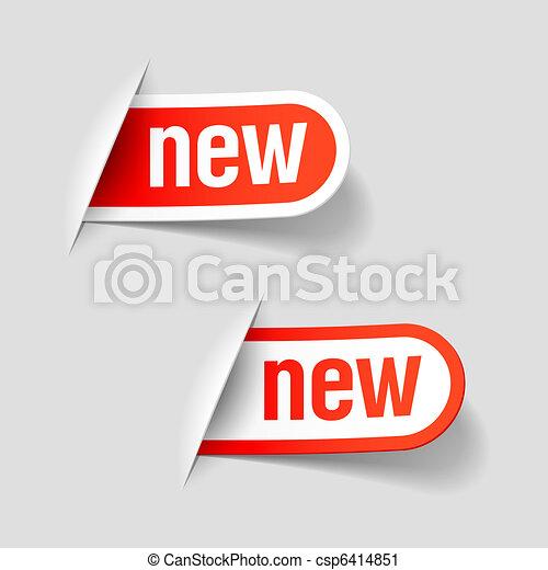 nouveau, étiquettes - csp6414851