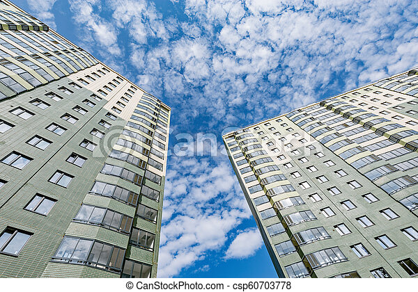nouveau, appartement, bâtiments., extérieur - csp60703778