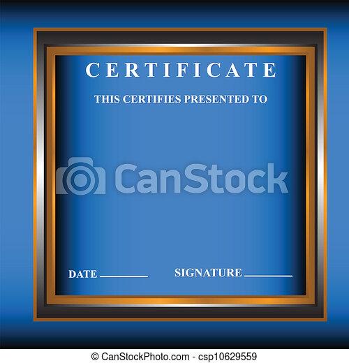 nouveau, certificat - csp10629559