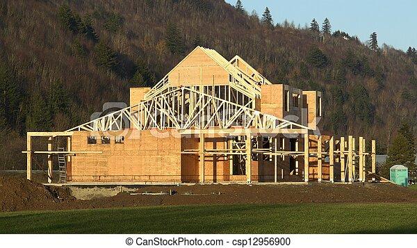 nouveau, construction, maison - csp12956900