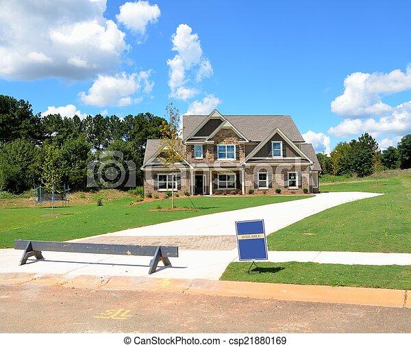 nouveau, construction, maison - csp21880169