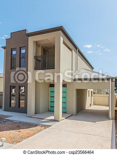 nouveau, construction, maison - csp23566464