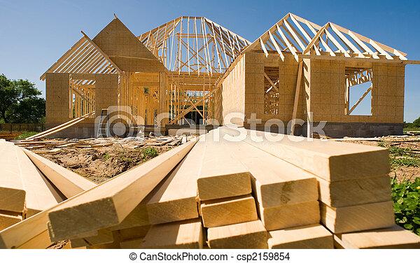 nouveau, construction, maison - csp2159854
