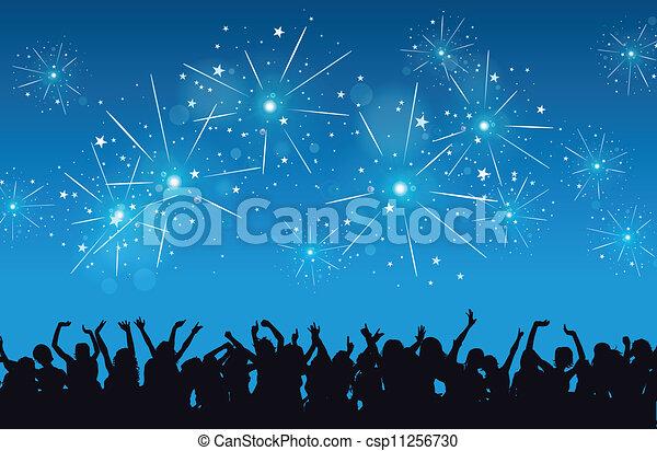 nouvel an, célébration - csp11256730