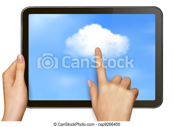 nuage, concept, calculer - csp9266400