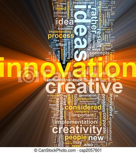 nuage, innovation, mot, incandescent - csp2057601