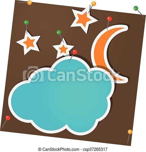 nuages, lune - csp37265317