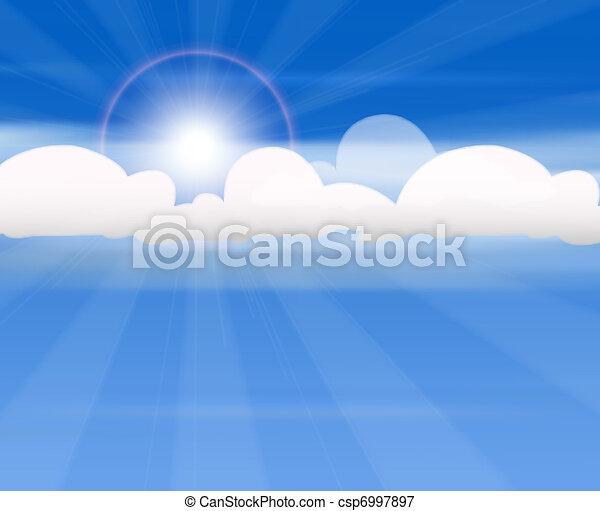 nuages, soleil - csp6997897