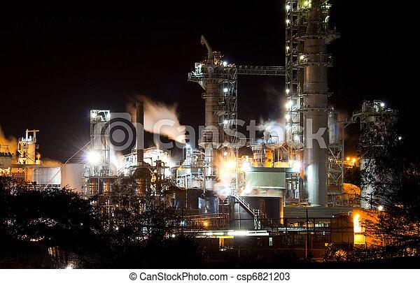 nuit, industriel, vue - csp6821203