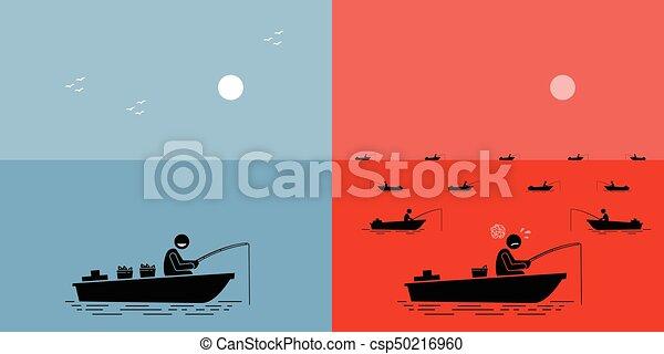 océan bleu, strategy., vs, stratégie, rouges - csp50216960