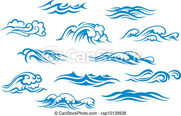 océan, mer, vagues - csp10139938