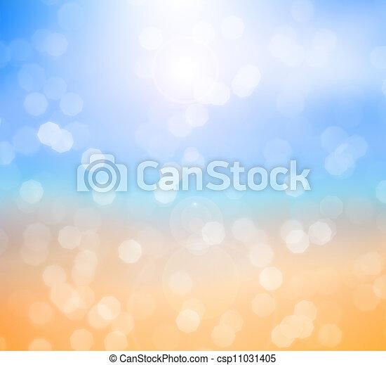 océan, plage, fond, brouillé - csp11031405