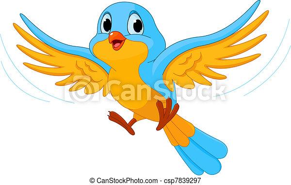 oiseau vole - csp7839297