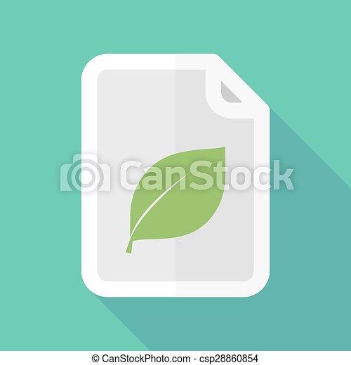 ombre, document, feuille, long, icône - csp28860854