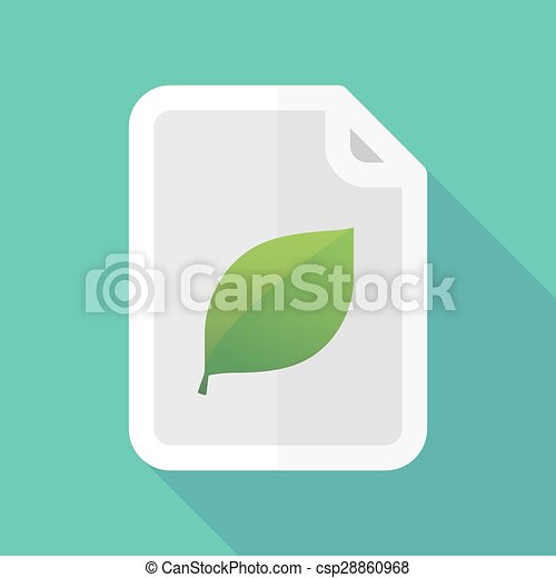 ombre, document, feuille, long, icône - csp28860968