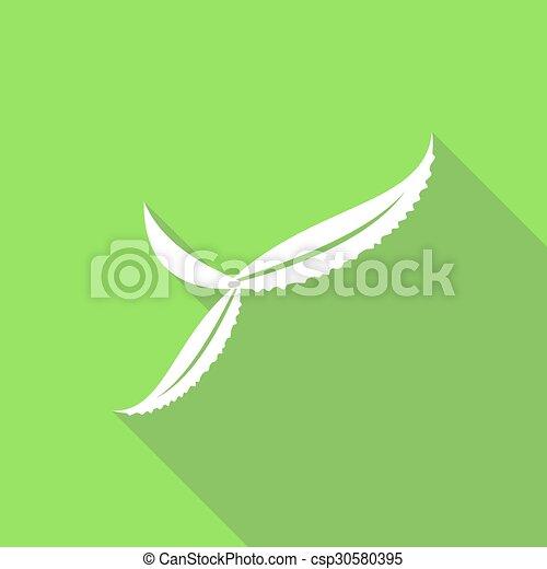 ombre, feuille, long, icône - csp30580395
