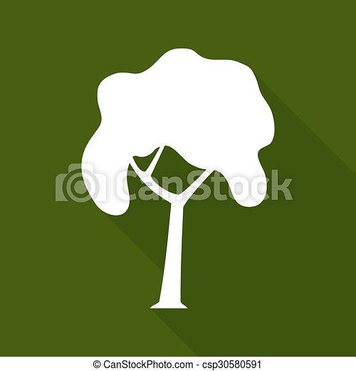 ombre, feuille, long, icône - csp30580591