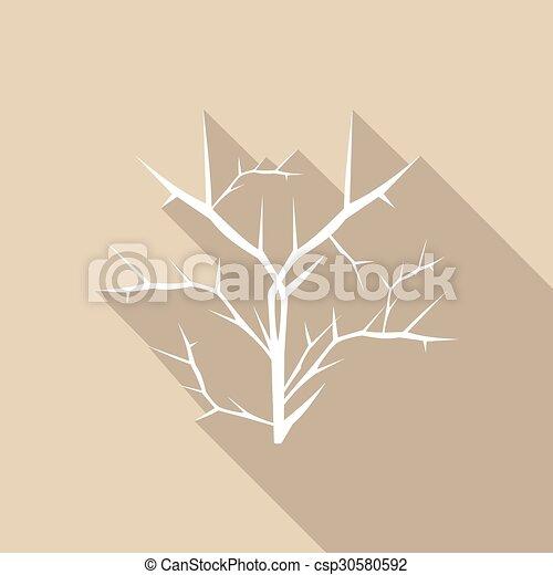 ombre, feuille, long, icône - csp30580592