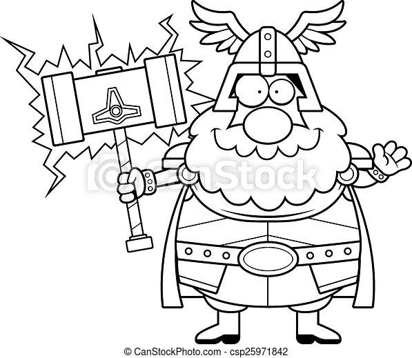 onduler, dessin animé, thor - csp25971842