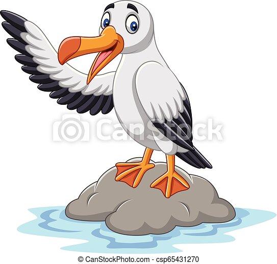 onduler, mignon, albatros, dessin animé - csp65431270