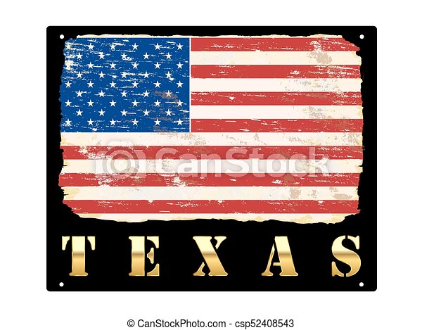 or, texas, émail, signe - csp52408543