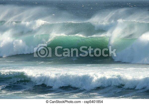 orageux, côtier, vagues - csp5401854