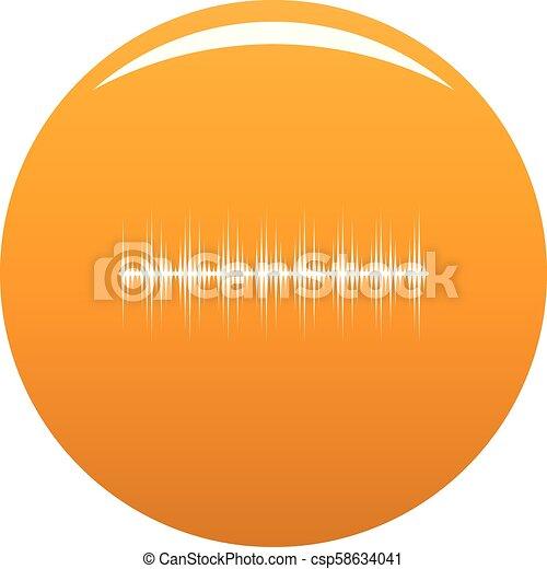 orange, compensateur, vecteur, numérique, icône - csp58634041