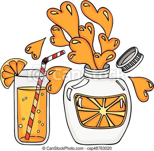 orange, juteux, rafraîchissement - csp48763020