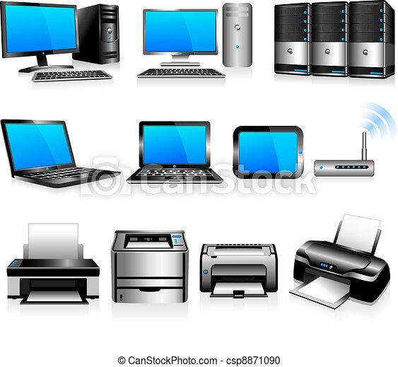 ordinateurs, technologie, imprimantes - csp8871090