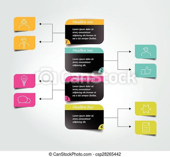 organigramme, infographic, scheme., element., diagramme - csp28265442