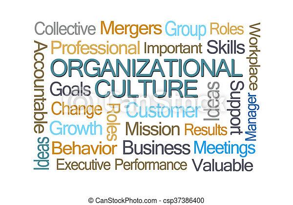 organisationnel, culture, mot, nuage - csp37386400