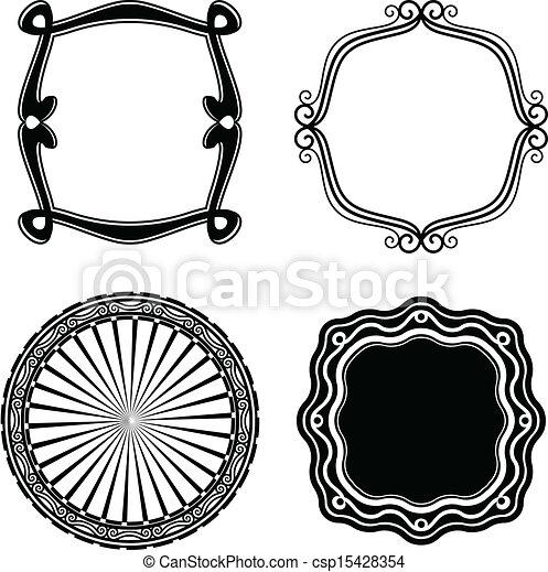 ornamental., cadre, vecteur, ensemble - csp15428354