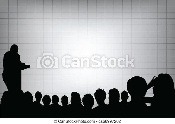 ou, ajouter, projection, conférence, business, texte, screen., foule, ton, présentation, personne, copie, audience., produit, vide, commercialisation, devant - csp6997202