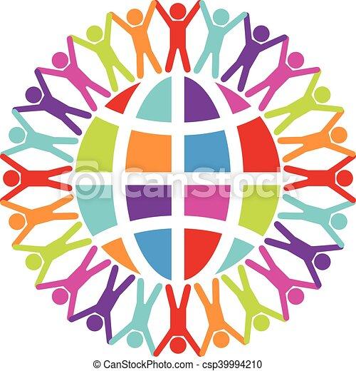 ou, gens, voyage, mondiale, vecteur, autour de, paix, concept - csp39994210