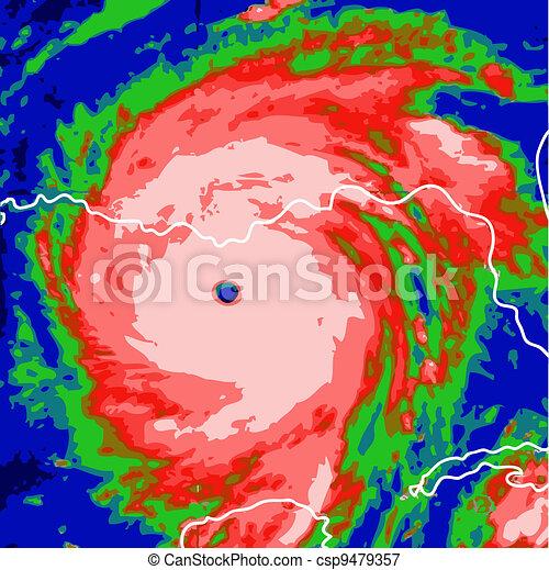 ouragan - csp9479357