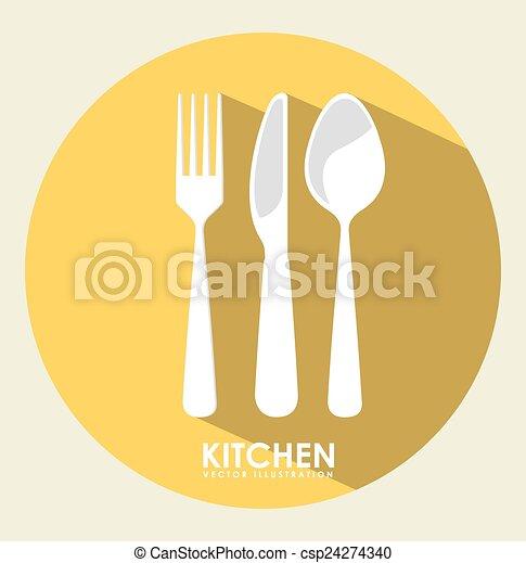 outillage, cuisine - csp24274340